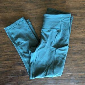 "LuluLemon 19"" cropped leggings - emerald green"